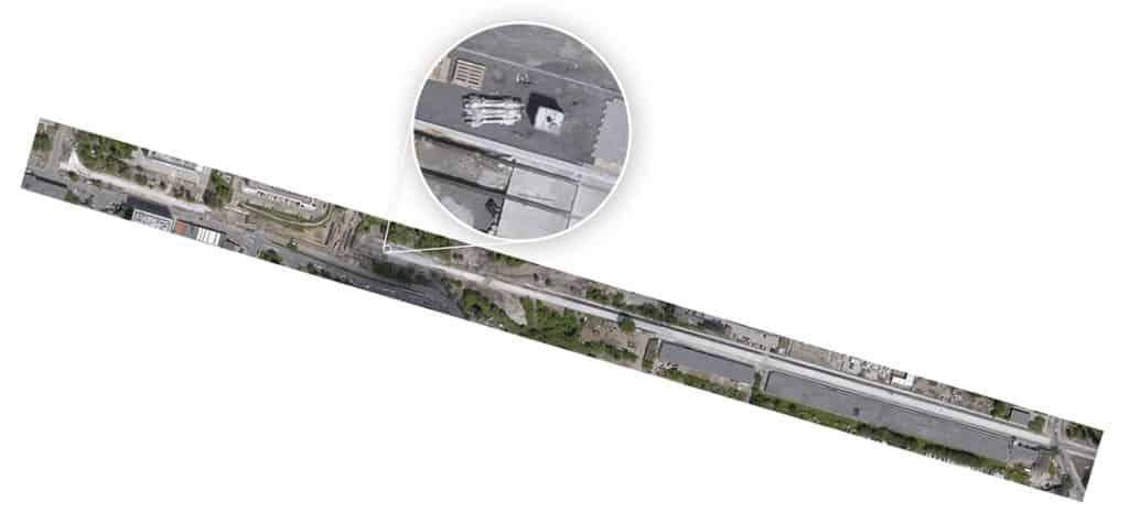 Ortofotomapa trasy autobusowo-tramwajowej