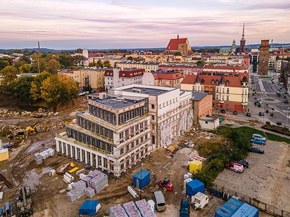 Zdjęcia z drona - monitoring postępu prac budowlanych